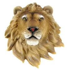 world of wonder african lion head mount wall statue mini bust leo