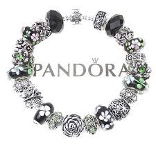black bracelet charms images Pandora collection on ebay jpg