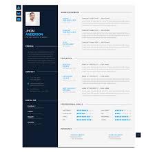 modern resume templates modern cv personal resume template by blendthemes themeforest