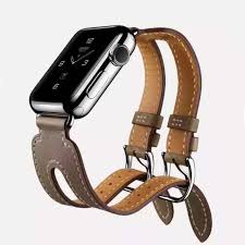 double strap bracelet images Genuine leather watch strap band for apple watch hermes double jpg
