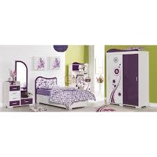 chambre complete fille chambre enfant fille violette complète 4 pièces vision