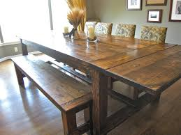 kitchen fabulous dining table set with bench farmhouse bench