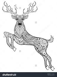 christmas deer coloring pages coloring pages ideas