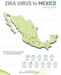 Mexico Maps Mexico Updates Map Of Locations Of Zika Cases Travel Weekly