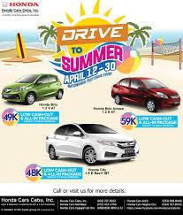 Honda Price List In Philippines Honda Cars Cebu Inc U201cdrive To Summer U201d Nationwide Test Drive Event