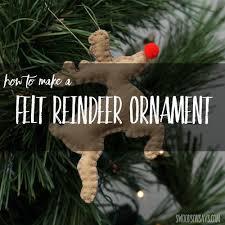 felt reindeer ornament pattern allfreesewing