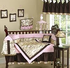 Brown And Pink Crib Bedding Abby Pink And Brown Asian Baby Bedding 9pc
