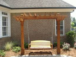 free pergola swing plans home design ideas