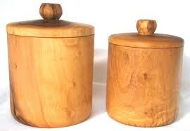 wooden kitchen storage containers grey ceramic tea coffee sugar