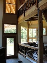 artistic railing on interior and exterior deck railing