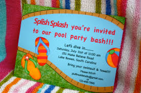 pool party invitations decorations pool party invitations