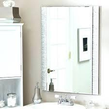 Bathroom Wall Mounted Mirrors Bathroom Wall Mirrors No Frame Bathroom Mirrors