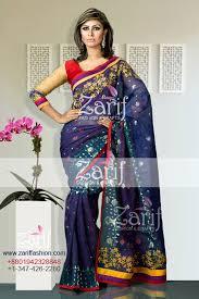 bangladeshi jamdani saree online boutiques embroidery shahi jamdani saree from zarif fashion