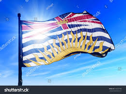 Flag British Columbia British Columbia Canada Flag Waving On Stock Illustration