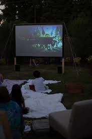 Backyard Movie Night Projector Snohomish County Photographer Newborn Photography Family