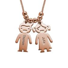 engraved charms s necklace with engraved children charms gold plated