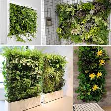 Wall Planters Indoor by Amazon Com Whitelotous 64 Pockets Vertical Garden Plant Grow