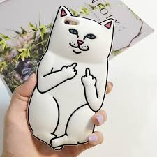 Middle Finger Cat Meme - cat middle finger phone case for iphone middle fingers phone and