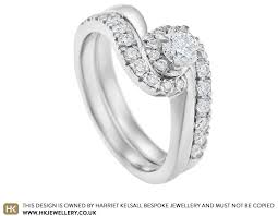 wedding ring sets uk 0 51ct diamond and palladium twist engagement and wedding ring set
