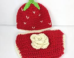 Strawberry Halloween Costume Baby Baby Strawberry Hat Etsy