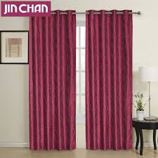ready made modern window blackout curtains fabric polyester for
