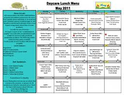 cacfp menu template daycare menu sprouts family daycare sle menu childcare