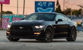 All Black Mustang 5 0 2015 Ford Mustang Gt 5 0 On Vossen Wheels Ford Pinterest