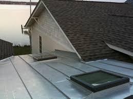 metal roof around skylights