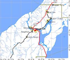 map of calumet michigan houghton michigan mi 49905 49931 profile population maps