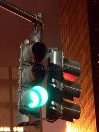 stop and go light traffic signal at night stop and go stock image image of yellow