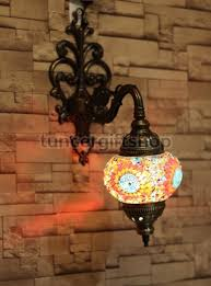 Mosaic Wall Sconce Mosaic Wall L Wall Sconces Blue Orange