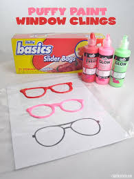 Puffy Paint Christmas Window Decorations by Mustache And Glasses Puffy Paint Window Clings Club Chica Circle