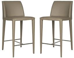 leather kitchen stool set of 2 bar stools safavieh com with its chic european modern profile wrapped in taupe pu leather the garretson counter stool brings clean lines and sophistication to a kitchen island or