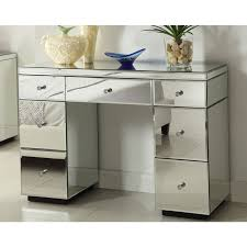 dressing table with mirror and drawers crystal mirrored dressing table console 7 drawer mirror furniture