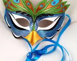 peacock mardi gras mask peacock mask etsy