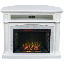 fresno electric fireplace tv stand in white finish small canada