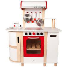 jouet en bois cuisine hape dinette grande cuisine chef blanche avec hotte ekobutiks l