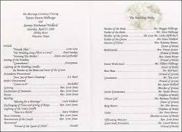 wedding program wording wedding program wording exles pagina