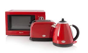 Toaster And Kettle Set Red Elgento 3 Piece Kitchen Set Groupon