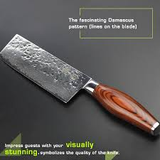 haoye 6 5 inch damascus vegetable knife asian chinese vg10 hammer