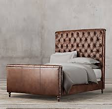 leather beds rh