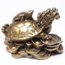 Horse Statues For Home Decor Amazon Com Feng Shui Turtles On Top Of A Dragon Home U0026 Kitchen