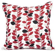Accent Sofa Pillows by Red And Black Branch Leaf Pattern Accent Throw Pillow Cover 16