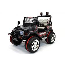jeep car black xtreme 12v ride on off road 4x4 two seater jeep in black xtreme toys