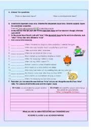 english exercises phrases and clauses