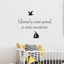 stickers ecriture chambre sticker texte et phrase quand grand aventurier chambre bébé et enfants