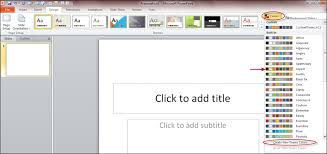 Using Powerpoint 2010 To Create A Custom Theme For Sharepoint 2010 Theme Ppt 2010