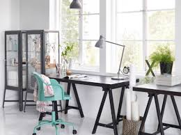 Study Office Design Ideas Office Design Concept Features Black Study Desk And Black Angular