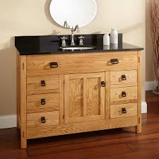 All Wood Bathroom Vanities by 48 Quot Mission Hardwood 6 Drawer Vanity With Undermount Sink