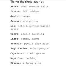 Cancer Horoscope Memes - cancer horoscope laugh leo sagittarius image 3921502 by